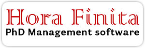 Logo Hora Finita PhD management software
