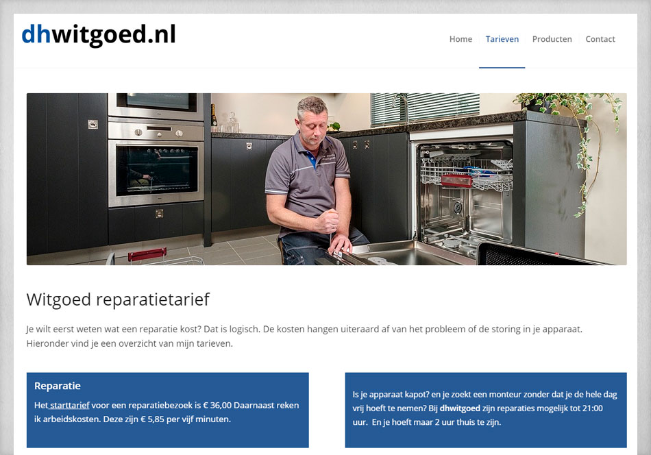 Internetsite DH Witgoed